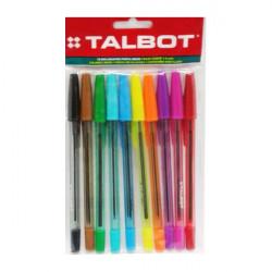 BOLIGRAFO TALBOT X10 NEON
