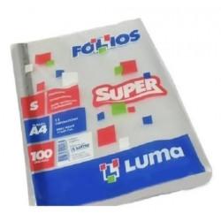FOLIOS T/A4 LUMA x100 SUPER...